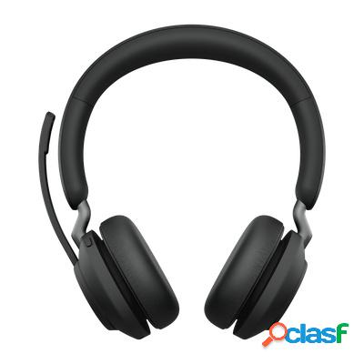 Jabra audífonos con micrófono evolve2 65 ms stereo, bluetooth, inalámbrico, 1.2 metros, usb, negro