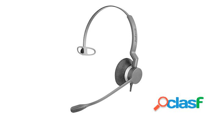 Jabra audífono monoaural con micrófono biz 2300 qd, alámbrico, gris