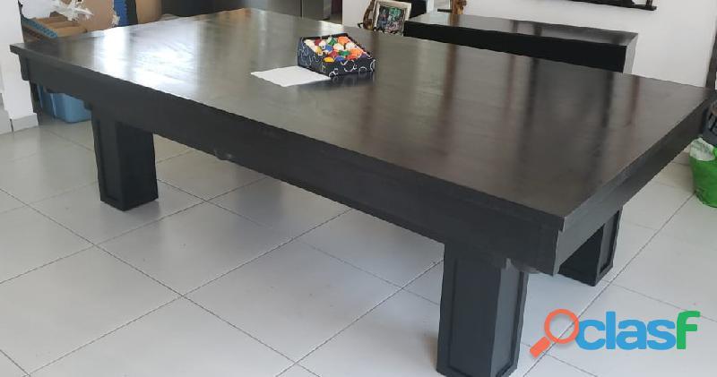 Mesa de billar convertible a comedor, pizarra mdf
