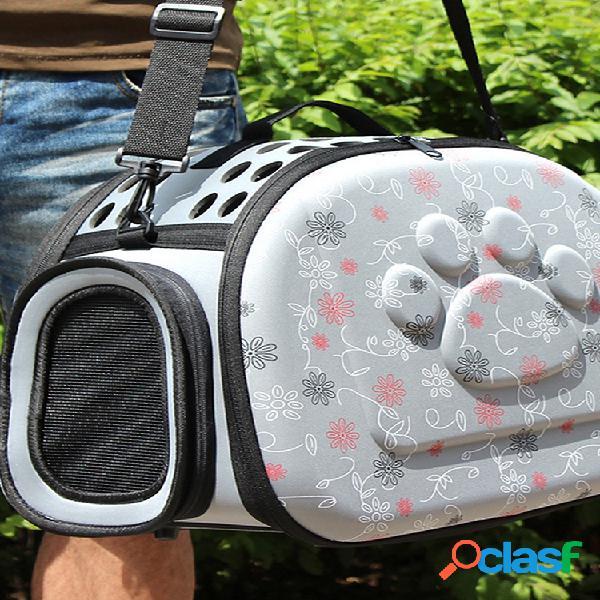Cómodo transportador lateral de viaje para mascotas portátil gato perro kennel pet house