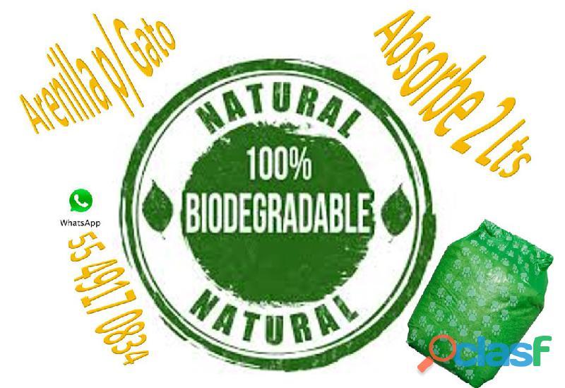 Arena biodegradable natutal para gato