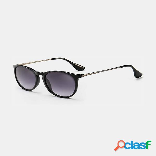 Vendimia gafas de sol redondas para mujer classic estilo retro al aire libre gafas gafas de sol de alta definición