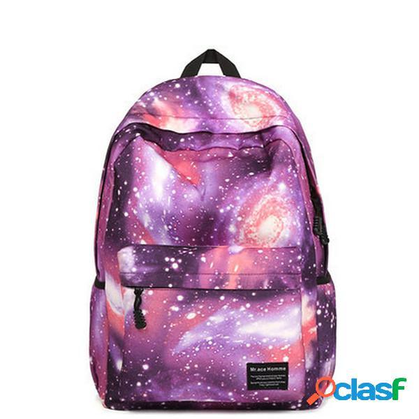 Mujer mochila de lona star dazzle color