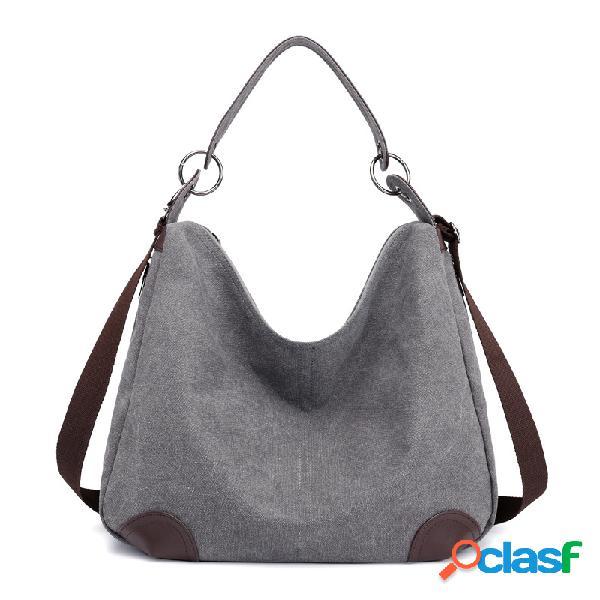 Mujer hombro casual de lona bolsa crossbody bolsa tote bolsa bolso
