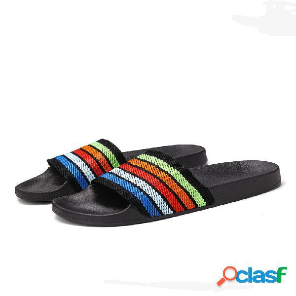 Mujer color fringe soft bottom flats zapatillas