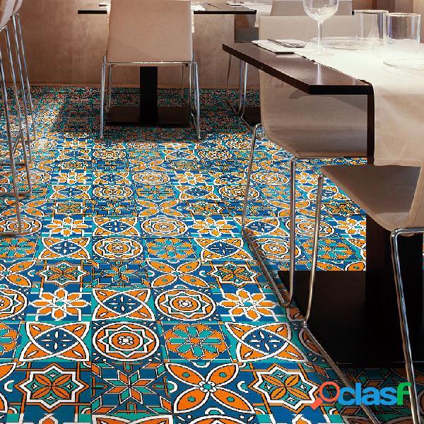 3d retro creativo patrón etiqueta de piso azulejo diagonal escritorio armario arte mural diy decoración impermeable etiqueta de pared etiqueta de piso