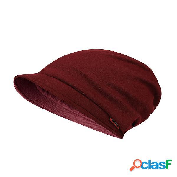 Mujer multifunción color sólido costura cálido soft gorro de cola de caballo sombrero invierno al aire libre gorro sombreros