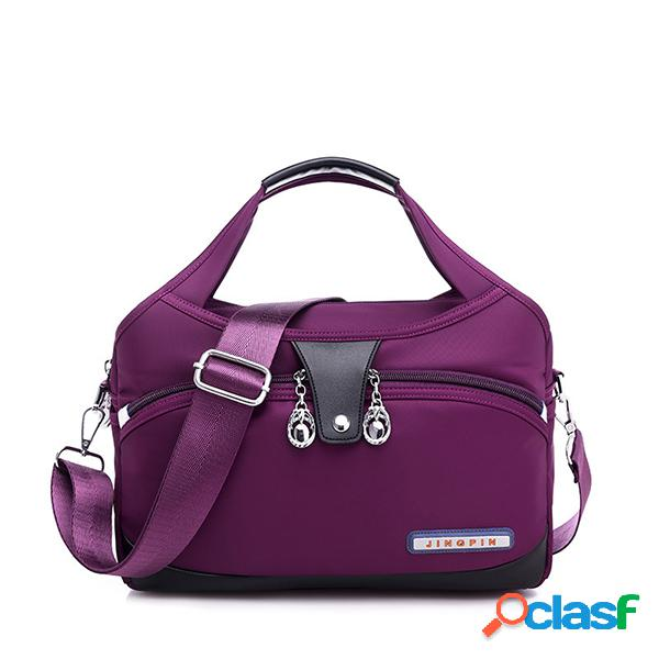 Mujer hombro casual en color liso bolsa ofxord messenger de gran capacidad bolsa