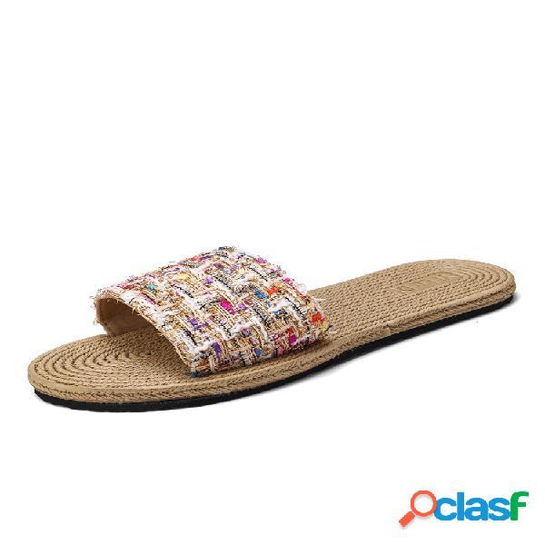Mujer soft bottom flats house zapatillas