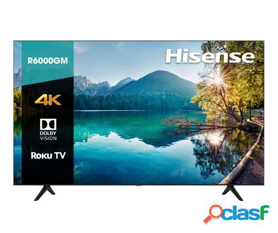 "Hisense smart tv led r6000gm 55"", 4k ultra hd, widescreen, negro"