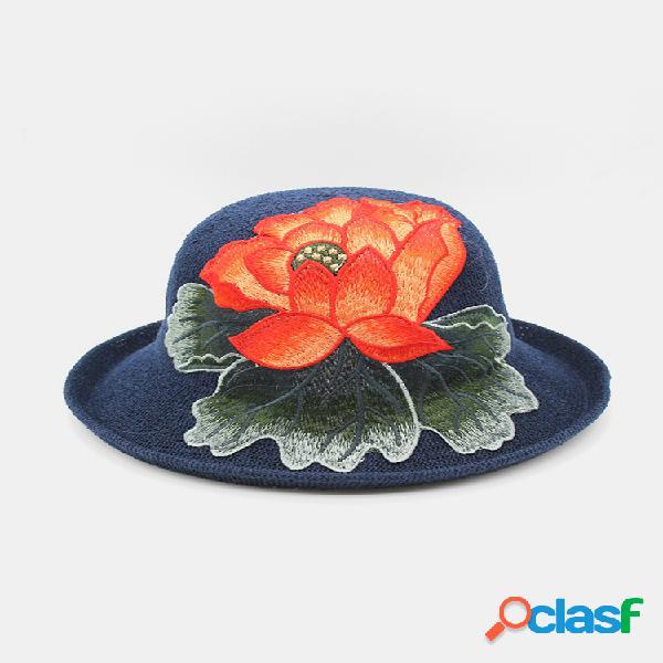 Gorra rizadora para mujer viajes de compras sol sombrero dome bordado playa sombrero transpirable