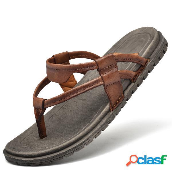 Hombres clip toe soft jardín playa agua zapatillas