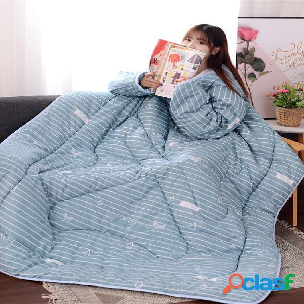 Manta de edredón perezoso para todas las estaciones de 120x160 cm para verano, primavera, ver televisión, manta portátil con edredón de cama
