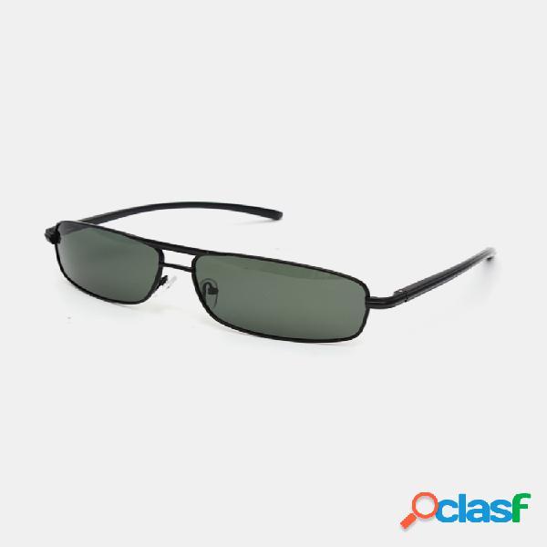 Gafas de sol polarizadas verde oscuro para hombre al aire libre conducción deportiva gafas