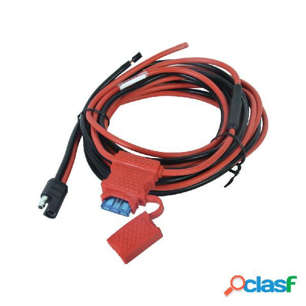 Txpro cable de corriente, 3 metros, negro/rojo, para motorola