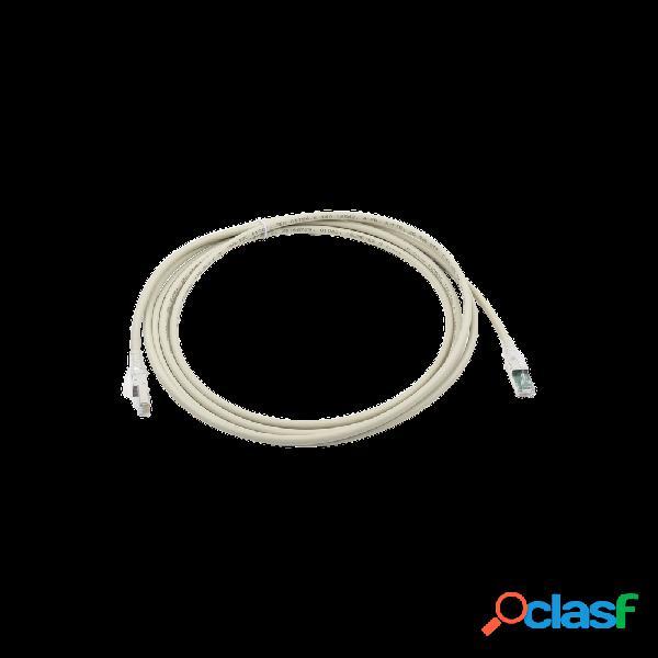 Siemon cable patch cat6a utp rj-45 macho - rj-45 macho, 3 metros, gris - bulk