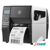 Zebra zt230 impresora de etiquetas, transferencia térmica, 203 x 203dpi, serial, usb, negro/plata