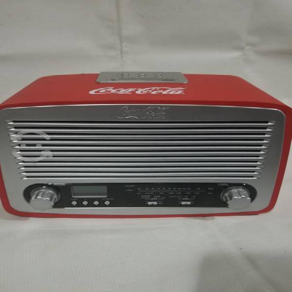 Radio coca cola retro madera no plastico nuevo