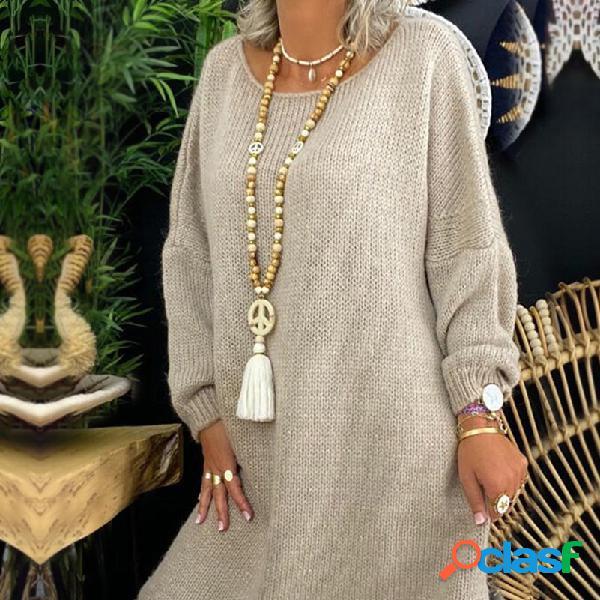Collar de cuentas largo bohemio hecho a mano con cuentas de madera borla signo de la paz colgante collar cadena de suéter