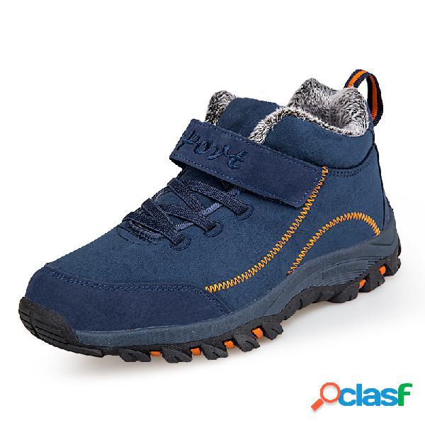 Hombre al aire libre gancho loop comfy soft suela antideslizante cálido senderismo botas
