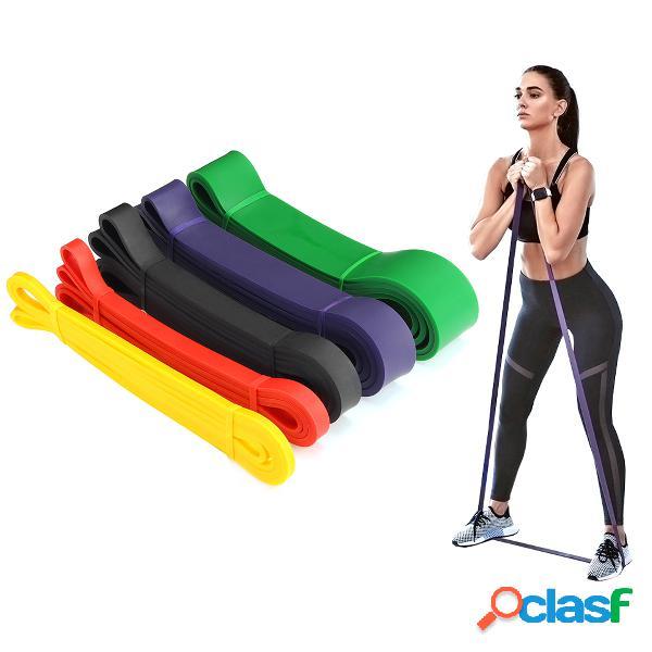 5-120lbs bandas de resistencia de látex deportes yoga pull up elastic cuerda aptitud banda de entrenamiento de fuerza