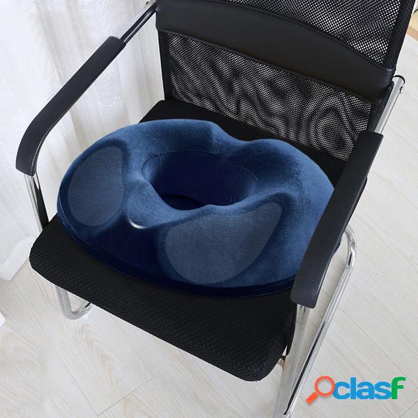 Almohada ortopédica de la silla del escritorio de la oficina en casa del cojín del coxis del cojín del coxis del asiento del buñuelo de la espuma de memoria