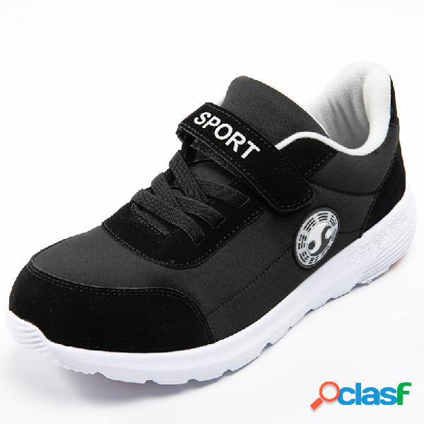 Hombre cómodo empalme de tela antideslizante soft sole casual zapatillas para caminar