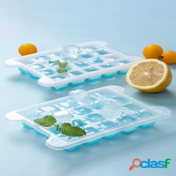 Refrigerador hielo cube congelación rápida caja molde casero para bandeja de hielo bebida fría de verano fabricación de hielo cube artefacto de gran capacidad