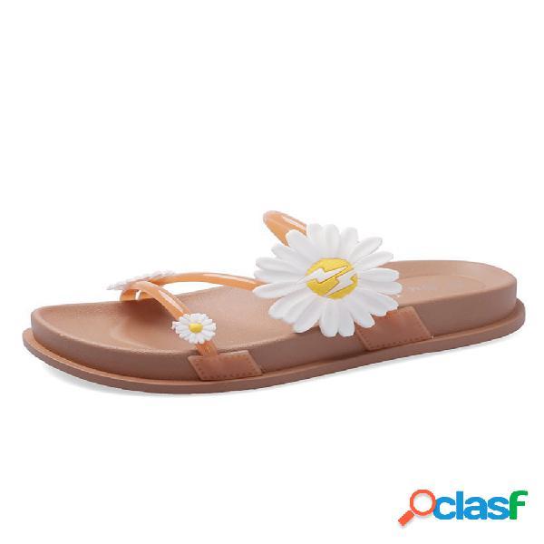 Correa mujer sweet daisy decor playa plataforma zapatillas