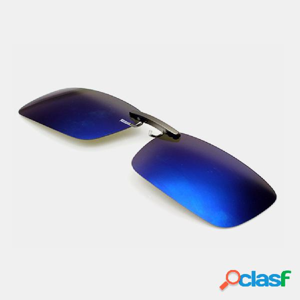 Gafas de sol polarizadas con clip para hombre lente pesca conducción nocturna uv400 gafas lente