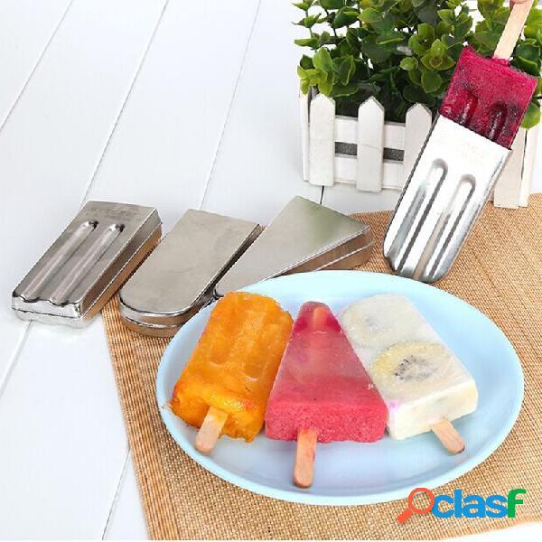 Kcasa kc-ice18 1pcs diy molde para paletas de helado molde para paletas de helado acero inoxidable hielo cube bandeja bandeja