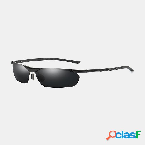 Gafas de sol polarizadas de aluminio y magnesio para hombre hd uv400 gafas de sol deportivas para conducir