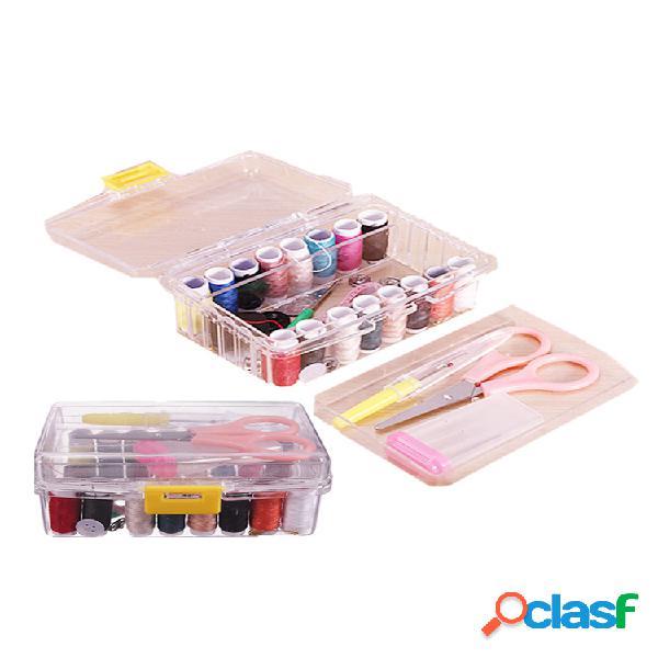 40 piezas portátil diy kit de costura multifunción hilo de aguja tijera herramientas juego de costura para el hogar