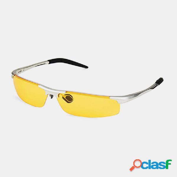 Gafas de sol polarizadas unisex amarillas lente visión nocturna conducción pesca ciclismo gafas