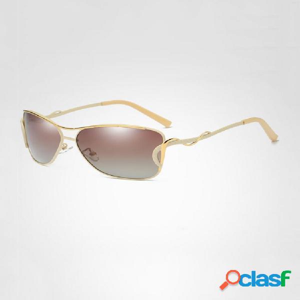 Mujer vendimia hd gafas de sol polarizadas al aire libre gafas de conducción con protección solar anti-uv