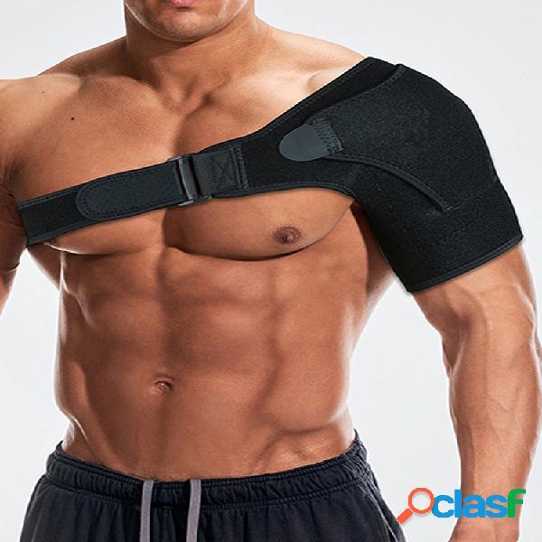 Hombres mujer ortesis de correa de soporte de hombro deportivo para recuperación de subluxación