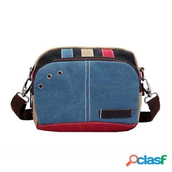 Contraste color casual pequeño messenger shoulder bolsa