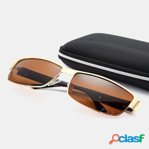 Hombre vendimia gafas de sol polarizadas para conducir al aire libre deportes uv400 gafas de sol anti-uv gafas de viaje