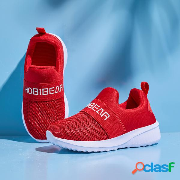 Hobibear unisex kids elastic banda punto soft antideslizante casual slip on sneakers