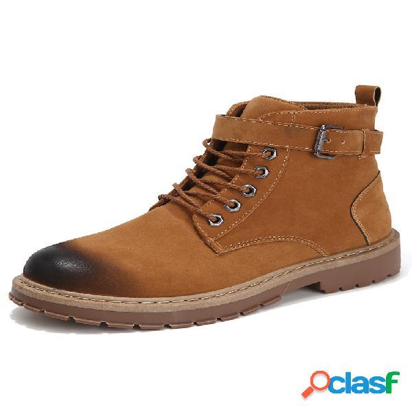 Hombre al aire libre estilo de trabajo herramientas informales antideslizantes botas