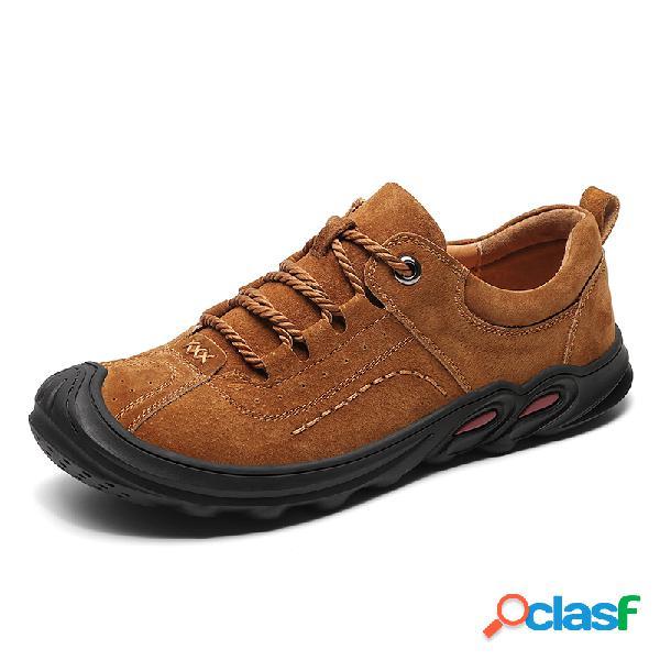 Hombre zapatillas cómodas, transpirables, antideslizantes, informales, con cordones al aire libre