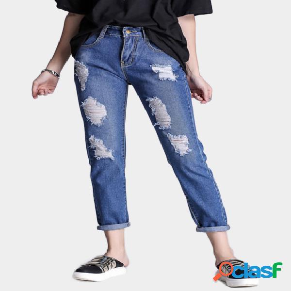 Detalles de blue ripped skinny jean