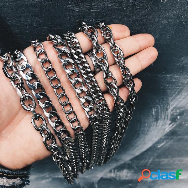 Collar de cadena de metal geométrico de moda punk silver colgante collar de joyería elegante