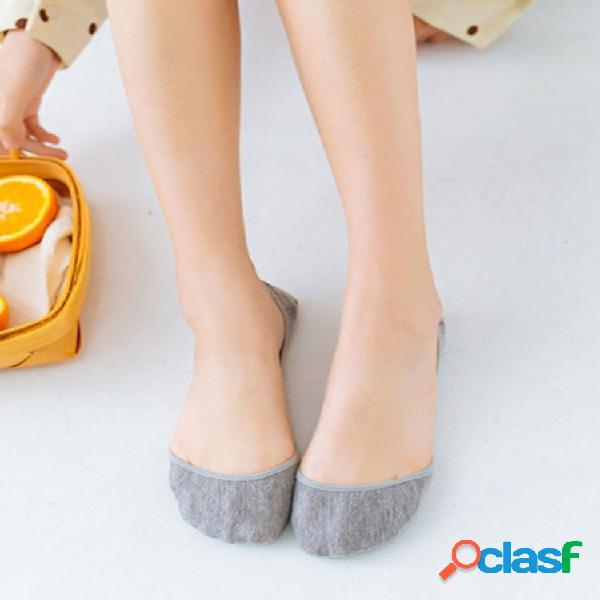 Mujer verano delgado invisible barco calcetines transpirable profundo antideslizante casual cómodo plano calcetines