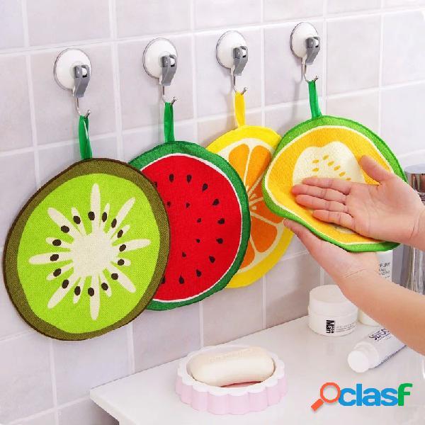 Honana fruit patrón toalla paño absorbente de cocina toalla pañuelo paño para platos de limpieza en seco rápido