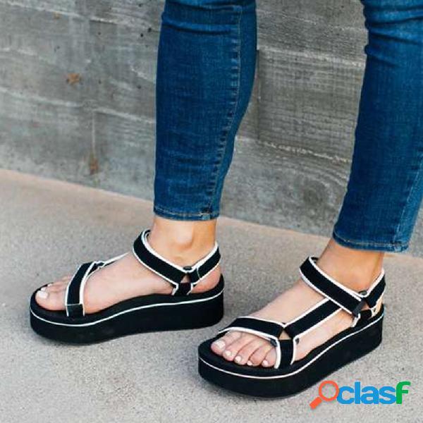 Mujer casual strappy platform open toe sandalias
