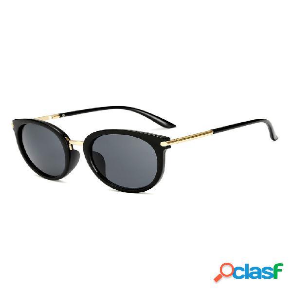 Gafas de sol de mujer con montura metálica anti-uv al aire libre gafas