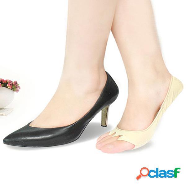 Mujer verano punta abierta antidesgaste barco calcetines soft antideslizante sudor invisible calcetines