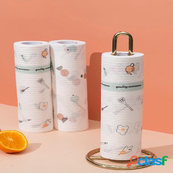 Trapos perezosos toallas para platos de impresión para el hogar platos desechables húmedos y secos de doble uso para desengrasar el paño de fregar