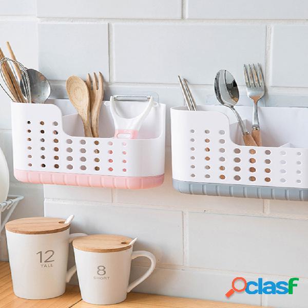 Bandeja de soporte de secado de cocina, cuchara montada en la pared, palillos, estante de almacenamiento de drenaje, pasta sin uñas, palillos drenados, jaula